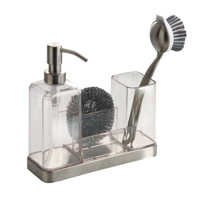 iDESIGN Forma 2 Soap & Brush Caddy Clear