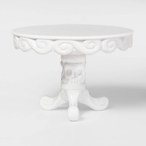 Halloween Porcelain Cake Stand White - Hyde and Eek! Boutique - Spritz™ - image 1 of 2