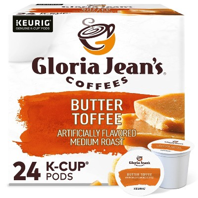 Gloria Jean's Butter Toffee Coffee Pods Flavored Coffee Medium Roast - 24ct