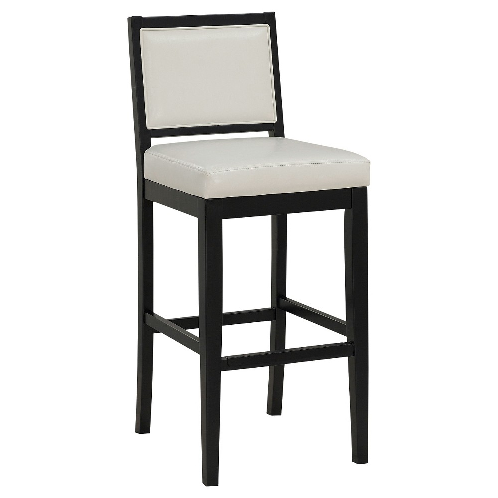 "Image of ""26"""" Fairmount Counter Stool Wood/Black/White - American Heritage Billiards"""
