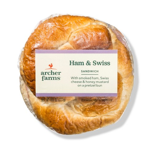 Ham & Cheese Pretzel Roll Sandwich - Archer Farms™ - image 1 of 1