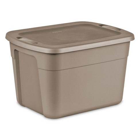 Sterilite 18 Gal Storage Tote - Desert Brown - image 1 of 3