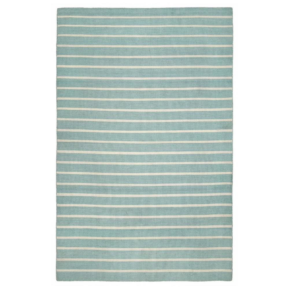 Sorrento Pinestripe Water Rug - Blue - (3'6