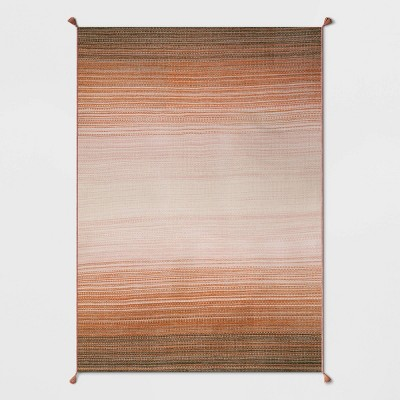 5' x 7' Ombre Outdoor Rug Orange - Opalhouse™