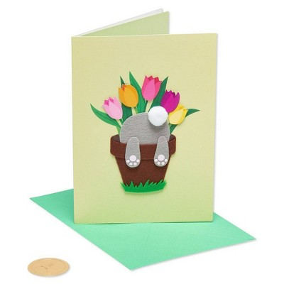 Bunny In Pot Greeting Card