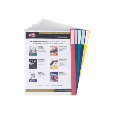 Staples Poly Index Folders Letter Assorted 10/Pack 492035