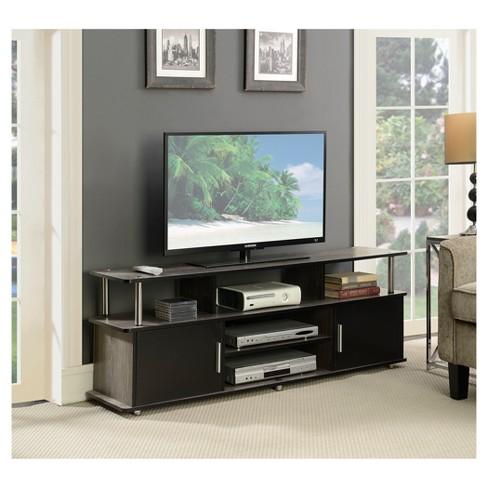 Designs2go 60 Monterey Tv Stand Weathered Gray Black Johar