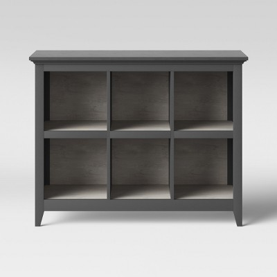 37.2  Carson 6 Bin Organizer Bookcase Gray - Threshold™