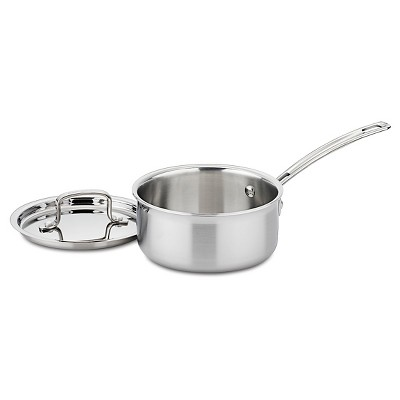 Cuisinart Multiclad Pro 1.5qt Tri-Ply Stainless Steel Saucepan with Cover - MCP19-16N