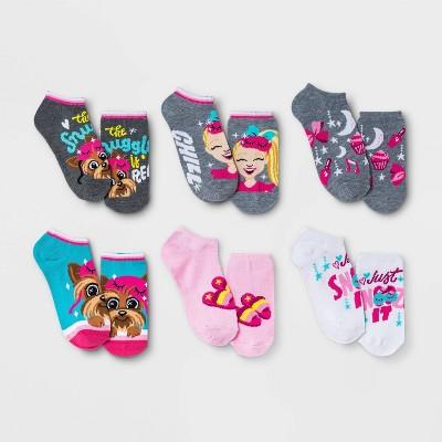 Girls' JoJo Siwa 6pk Socks