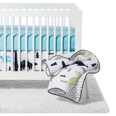 Sweet Jojo Designs Crib Bedding Set - Blue & Green Mod Dino - 11pc