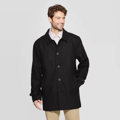 Men's Standard Fit Overcoat   Goodfellow & Co™ Black by Goodfellow & Co