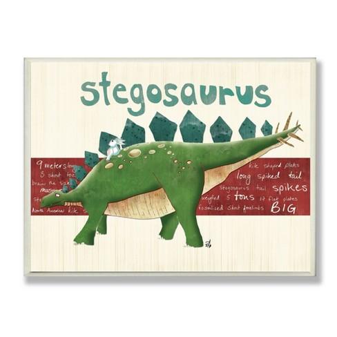 "Stegosaurus Dinosaur Wall Plaque Art (10""x15""x0.5"") - Stupell Industries - image 1 of 3"