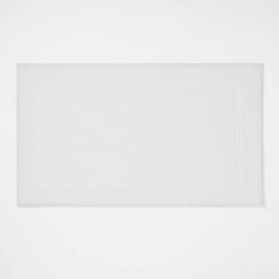 "20""x34"" Performance Texture Cotton Memory Foam Bath Rug White - Threshold™"
