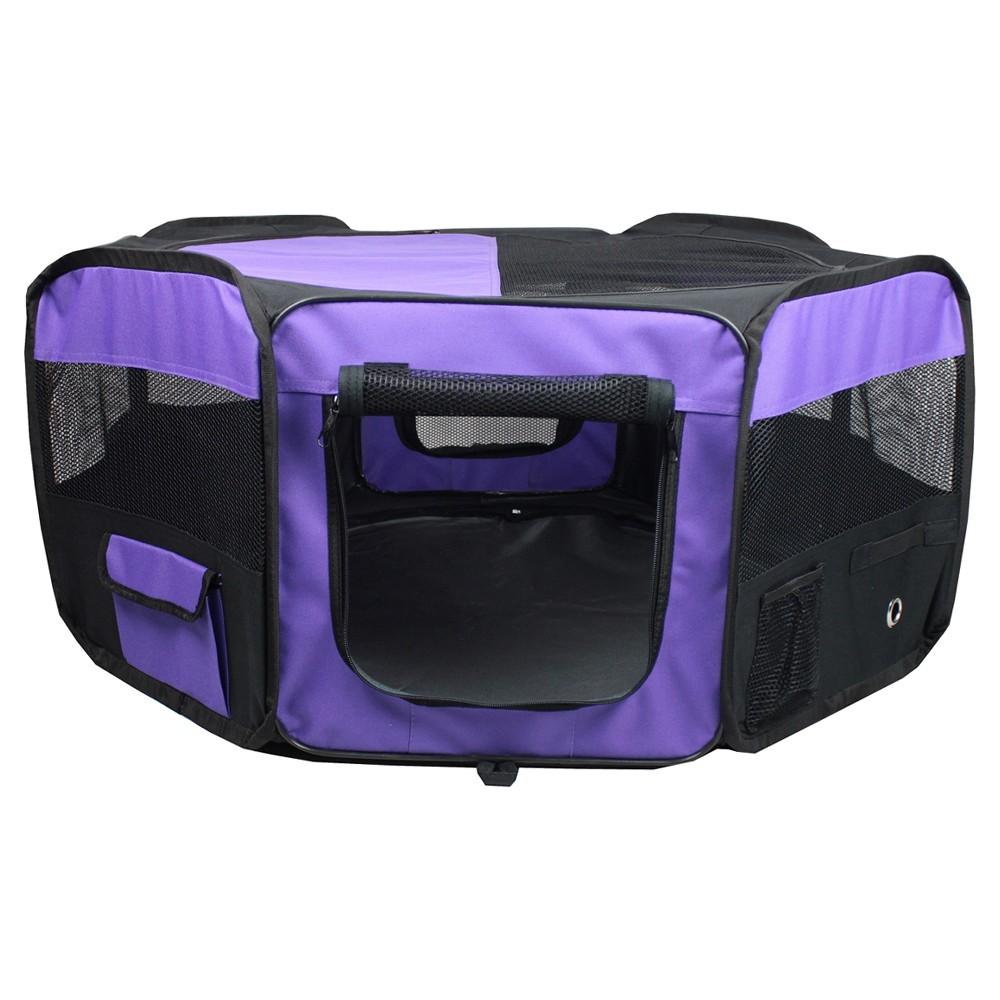 Iconic Dog Soft Portable Play Pen - Purple - Xxl
