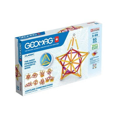 Geomag GREEN LINE Color Magnetic Building Set 93pc