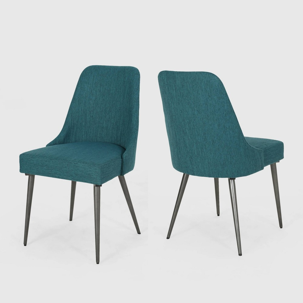 Set of 2 Alnoor Modern Dining Chairs Teal - Christopher Knight Home was $219.99 now $142.99 (35.0% off)