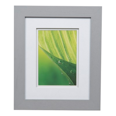 Single Image 8X10 Wide Double Mat Gray 5X7 Frame - Gallery Solutions