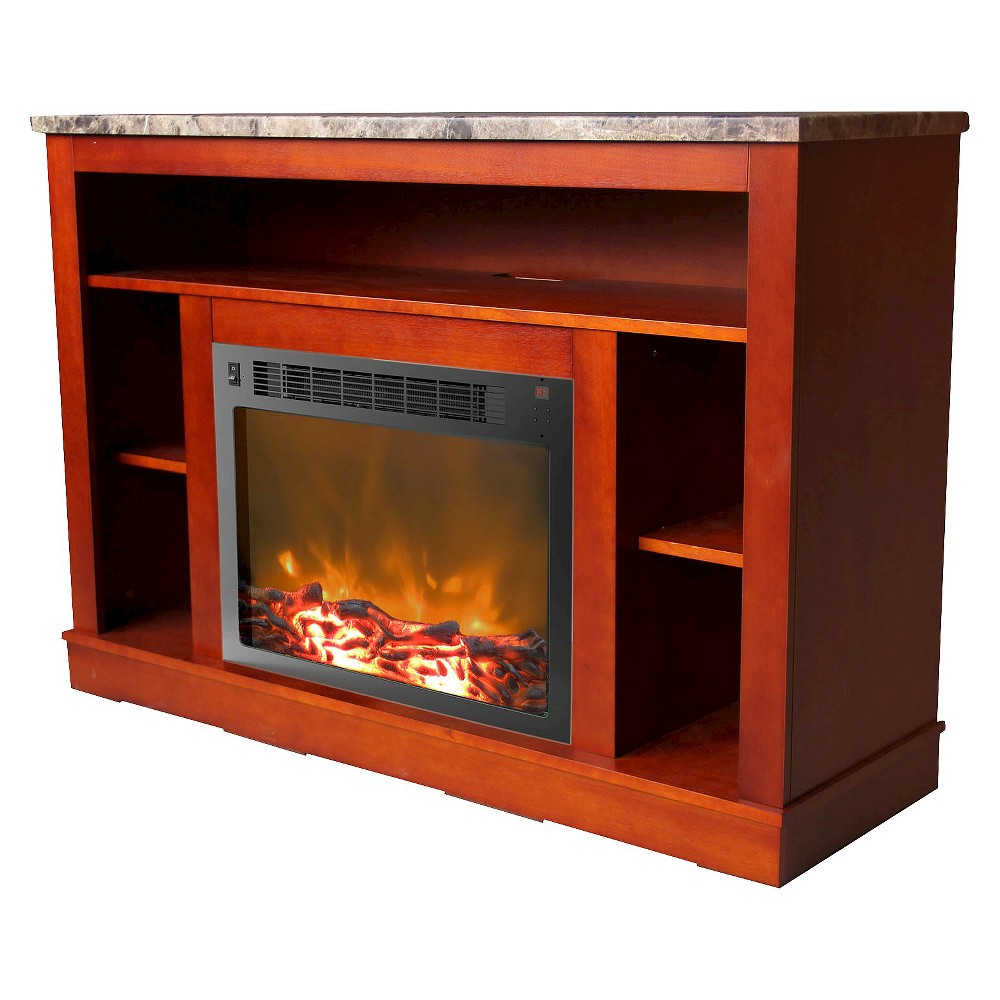 Cambridge CAM5021-1CHR Seville Fireplace Mantel with Electronic Fireplace Insert, Cherry (Red)