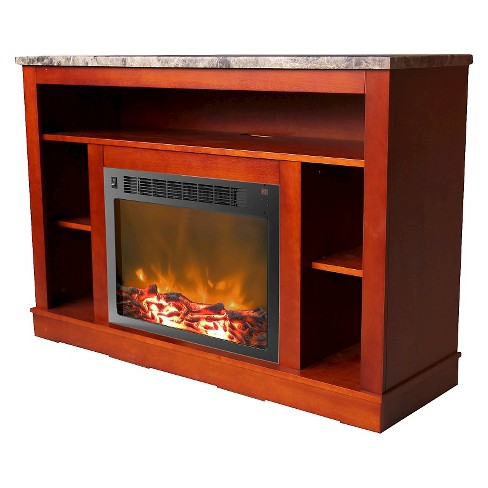 Cambridge CAM5021-1CHR Seville Fireplace Mantel with Electronic Fireplace Insert Cherry - image 1 of 4
