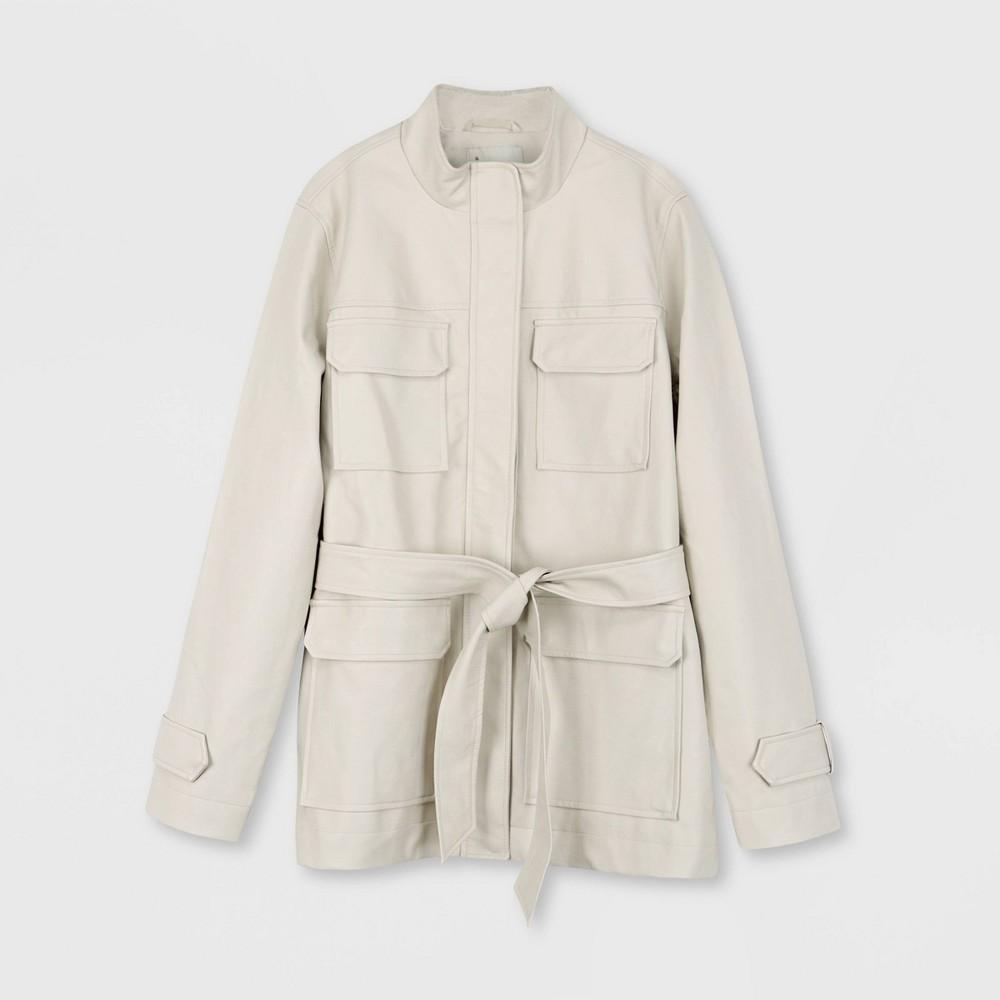 Women 39 S Plus Size Anorak Jacket A New Day 8482 Stone 1x