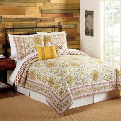Indigo Bazaar 5pc Joanne Comforter & Sham Set Red