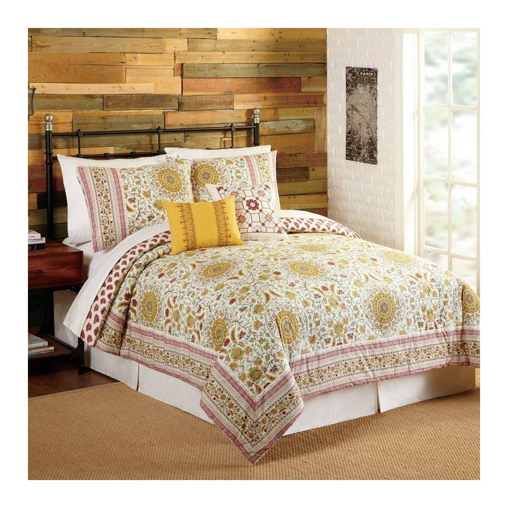 Image of Indigo Bazaar King 5pc Joanne Comforter & Sham Set Red