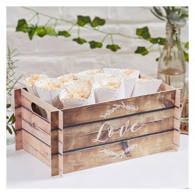 """Love"" Wooden Botanics Craft Card"