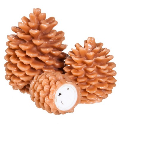 Pinecone LED Candles Set of 3 - image 1 of 2