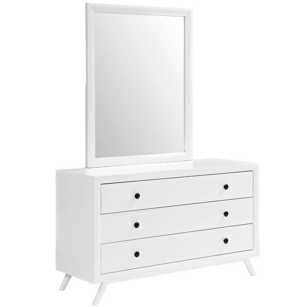Tracy Dresser & Mirror White - Modway