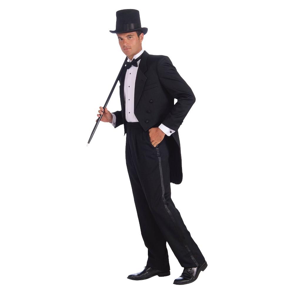 Men's Vintage Hollywood Tuxedo Costume - One Size, Black & White
