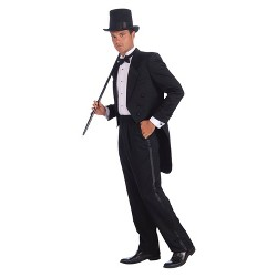 Men's Vintage Hollywood Tuxedo Costume - One Size