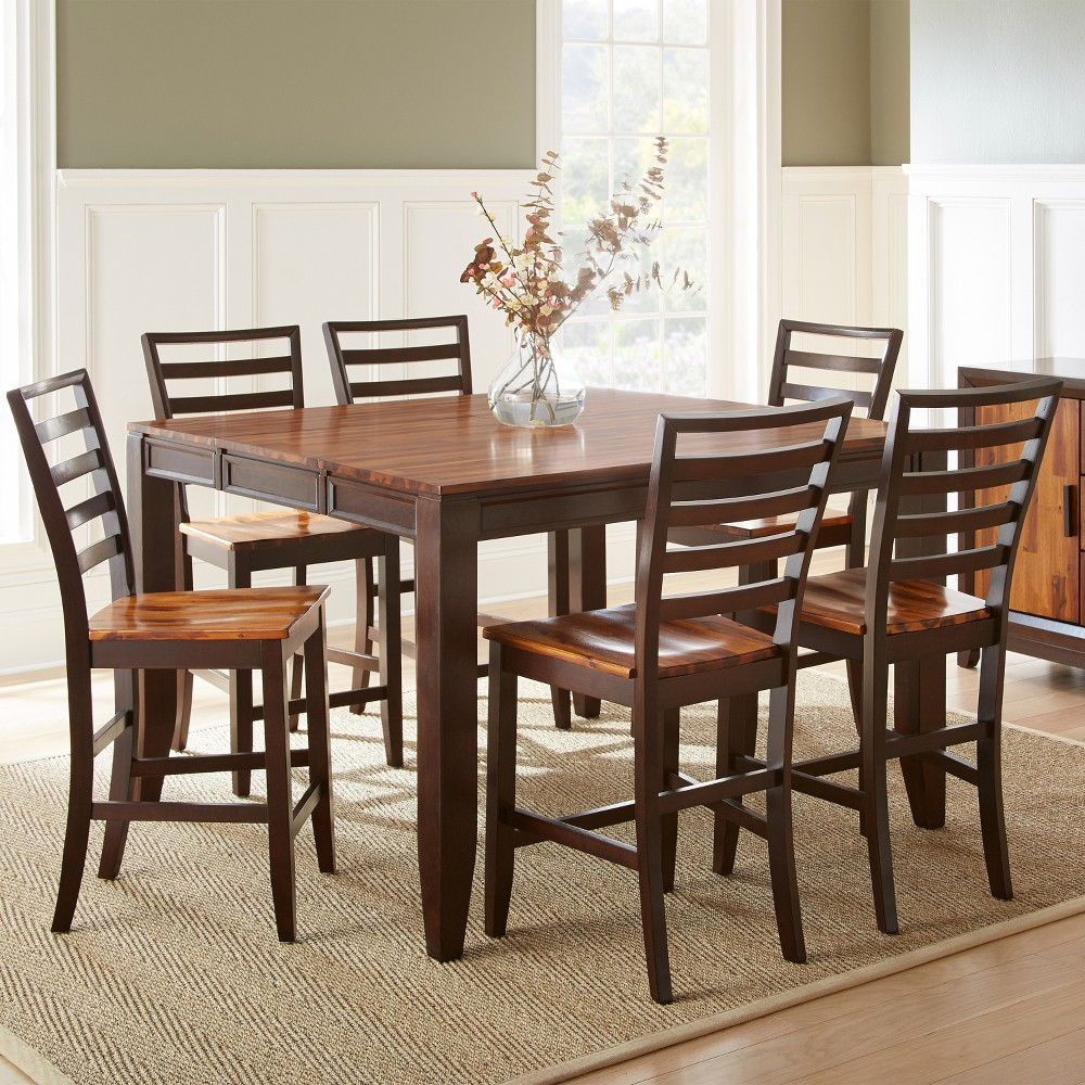 7pc Blair Counter Height Dining Set Cherry (Red) - Steve Silver