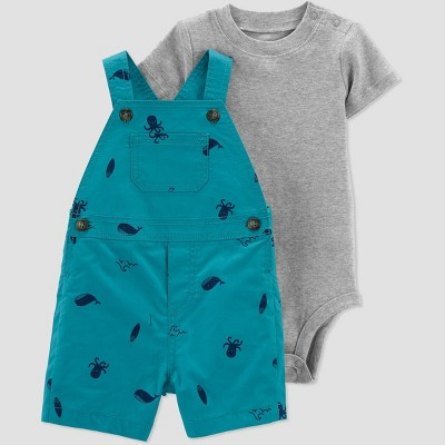 Baby Boys' Sea Creatures Top & Bottom Set - Just One You® made by carter's Teal 3M