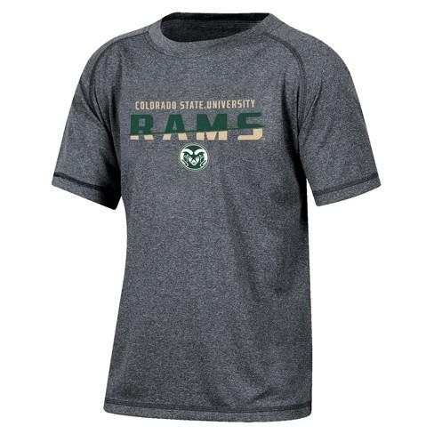 Colorado State Rams Boys Short Sleeve Crew Neck Raglan Performance T-Shirt - Gray Heather - image 1 of 2