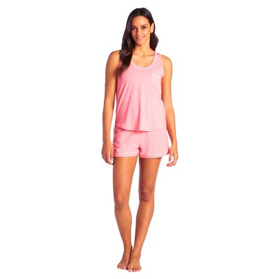 Softies Women's Scoop Neck Tank and Shorts Set with Contrast Piping