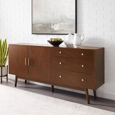 "70"" Mid-century Modern 3 Drawer And 2 Door Sideboard - Saracina Home : Target"