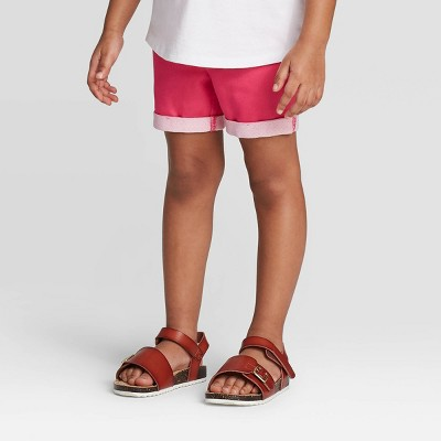 Toddler Girls' Solid Pull-On Shorts - Cat & Jack™ Pink 18M