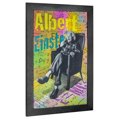 Albert Einstein Framed Wall Art Black - Crystal Art Gallery