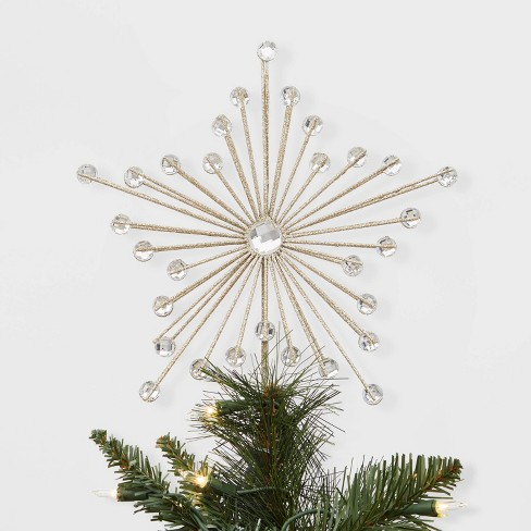 Wire Christmas Tree.11 5 X 9 Unlit Wire Starburst Christmas Tree Topper With Clip Gold Wondershop