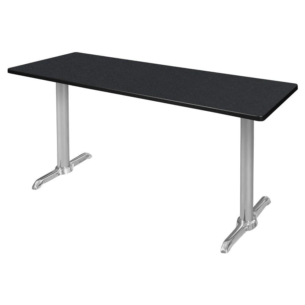 72 Via Training Table Carbon/Chrome (Black/Grey) - Regency
