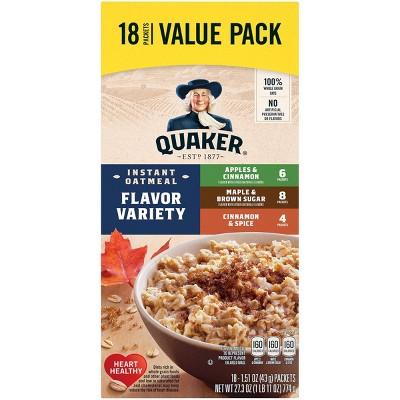 Quaker Flavor Variety Instant Oatmeal 18 pk