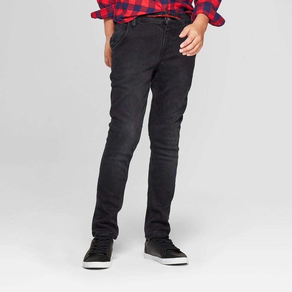 Boys' Cozy Jeans - Cat & Jack Black 5