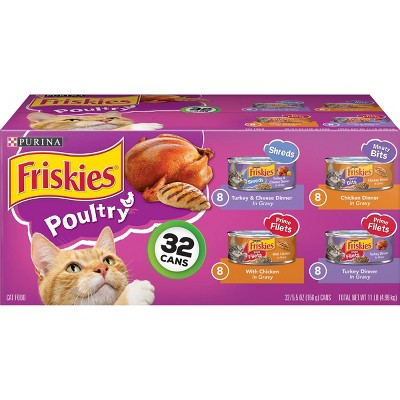 Purina Friskies (Poultry Variety Pack)- Wet Cat Food - 32ct Box