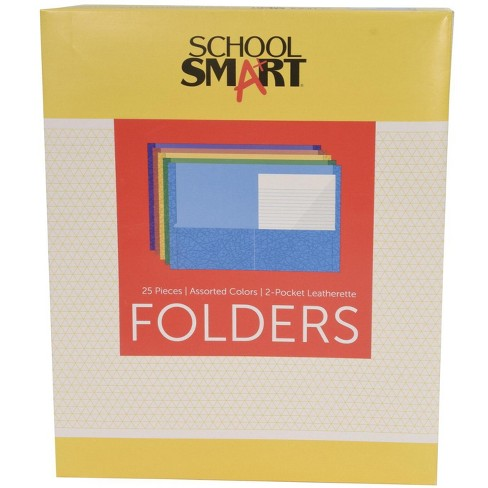 School Smart 2-Pocket Folders, Assorted Colors, pk of 25 - image 1 of 4