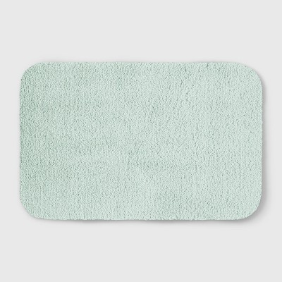 Perfectly Soft Solid Shag Bath Rug Vapor Green - Opalhouse™