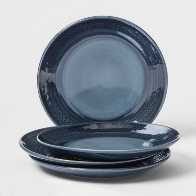 Kingsland Stoneware Salad Plate 8.3  Blue - Threshold™