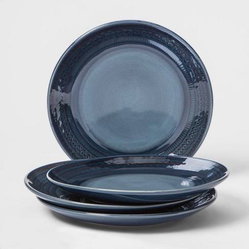 "Kingsland Stoneware Salad Plate 8.3"" Blue - Threshold™ - image 1 of 1"