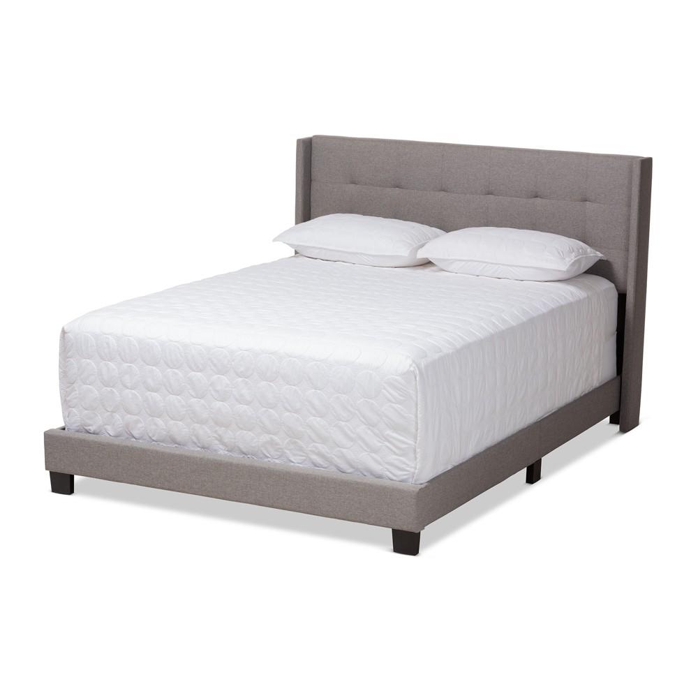 Queen Lisette Fabric Upholstered Bed Gray - BaxtonStudio