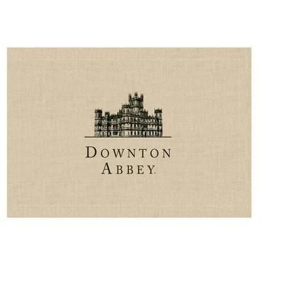 "Heritage Lace 14"" x 20"" Downton Abbey British Highclere Castle Table Place Mats 4pc - Beige"